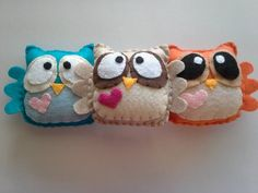 Felt Plush Owls your choice of two by CLASicCRAFTS on Etsy, $10.00