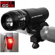 MEETLOCKS® USB Rechargeable Bike Torch, Super Bright Real USA Cree Q5 3W(240 Lumens) LED & 0.5W LED Flash Taillight(free charge) Combination, USB Recharge battery & AAA Batteries Two Ways Power Supports. http://www.amazon.com/MEETLOCKS%C2%AE-Rechargeable-Taillight-Combination-Batteries/dp/B00KM01XEA/ref=sr_1_11?ie=UTF8&qid=1425975959&sr=8-11&keywords=meetlocks