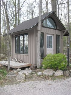 Gorgeous Artist Studio, Cottage Bunkie Idea, Backyard Office, Shed Idea by Thunder Beach Wood Works
