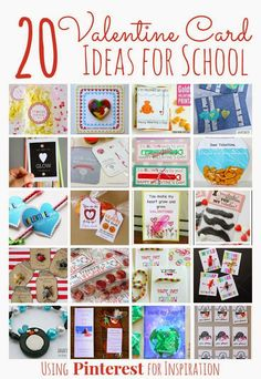 20 Valentine Card Ideas for School inspired by top pins on Pinterest featured on The Educators' Spin On It