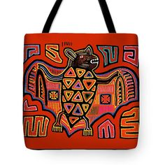 Stunning San Blas Island Kuna Indian inspired mola Bat design on printed cotton throw pillow, or Kuna Indian PRINTED tote bag of sturdy poly-poplin.           Kuna Indian Bat design - Choose same design printed on tote bag, or Throw pillow. Please see choices above.    Please allow 7 days to complete design prior to shipping.    Colorful, tribal, folk art depiction of the Crucifix printed decorative throw pillow printed 100% cotton, or tote bag printed on sturdy, durable poly-poplin…