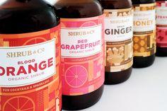 Shrub & Co label design by Nørvik Design