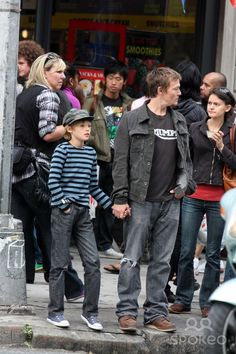 NYC 09/26/09 EXCLUSIVE: Norman Reedus and son Mingus Reedus (10 years old. Mother is Helena Christensen) stopping for ice cream while shoppi...