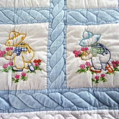 Amish Baby Quilt - pattern is Sunbonnet Sue. - Yelp