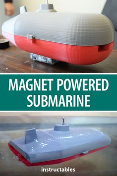 This 3D printed submarine is powered by magnets. #Instructables #3Dprint #toy #boat Local Library, Magnets, 3d Printing, Boat, Prints, Impression 3d, Boats, 3d Typography