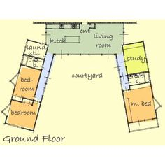U Shaped House Plan