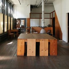 // Private home of artist Donald Judd (1928-1994) at 101 Spring Street, Soho