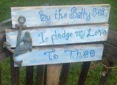 I love!!!!!!! Anchor wedding sign beach wedding sign by PineNsign on Etsy, $60.00