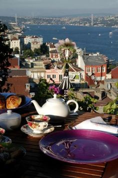 Tea time overlooking the Bosphorus, Istanbul, Turkey (or tea time outdoors overlooking any body of water). Pamukkale, Most Beautiful Cities, Wonderful Places, Lovely Things, Restaurant Bar, Places To Travel, Places To Go, Tea Places, Travel Destinations