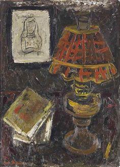 Petroleum lamp by Gustave de Smet