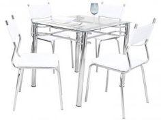 Conjunto de Mesa com 4 Cadeiras Tuane - Somopar