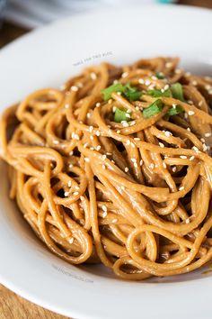 Cold Spicy Peanut Sesame Noodles