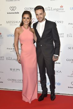 On the arm of new beau Liam at Eva Longoria's Global Gift Gala, Cheryl picked a pretty pink gown by Elizabe...