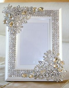 Handmade Crystal frame. VERY IMPORTANT: PLEASE ALLOW 2-3 WEEKS TO RECEIVE YOUR ITEM. RUSH SHIPPING DOES NOT APPLY TO THIS LISTING. * DOMESTIC