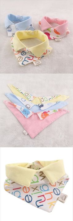 2016 New Arrivals Cotton Baby Bibs Baby Care Bibs NewBorn Wear Boys and Girls Burp Cloths Infant Saliva Towels Baby Feeding Baby Sewing Projects, Sewing For Kids, Sewing Crafts, Best Baby Bibs, Diy Stuffed Animals, Baby Crafts, Baby Feeding, Burp Cloths, Baby Dress