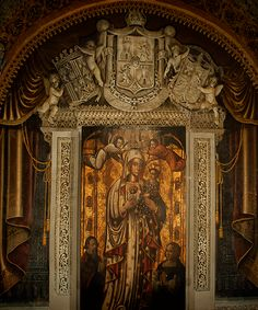 OUR LADY OF ANTIGUA  Sevilla, Spain 1523 Oil painting on Wood Metropolitan Cathedral of Santo Domingo