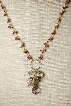 """Anne Vaughan Designs - Gumdrop 16-18"""" Fancy Garnet Gemstone Necklace, $106.00 (http://www.annevaughandesigns.com/gumdrop-handmade-fancy-garnet-gemstone-unique-necklace/)"""