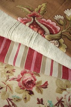 Antique Vintage French linen & fabric  beautiful belle