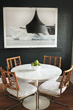 chic dining nook