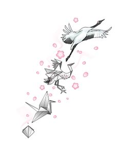 paper crane tattoo | Tumblr