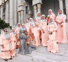 65 Best Hijabis Style Log Bridesmaids Dresses Images In 2019