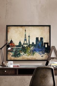 Hey, I found this really awesome Etsy listing at https://www.etsy.com/listing/250640995/paris-abstract-print-paris-skyline-paris