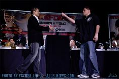Nick Diaz greeting Frank Shamrock   :)