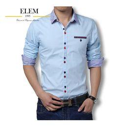Camisas Sport Hombre Elegante Fit Slim Mod019 - U$S 49,99 en Mercado Libre Button Down Shirt, Men Casual, Shirt Dress, Mens Tops, Shirts, Dresses, Fashion, Sewing Techniques, Fashion Clothes