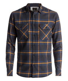 2d227a7c Cut from a soft and warm brushed cotton flannel, the Quiksilver Fitz  Forktail Flannel shirt is slightly slimmer and has a longer fit to update  your love for ...