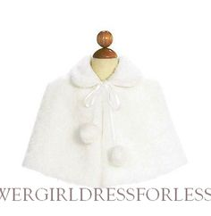 7891 - Plush Faux Fur Cape - Capes and Jackets - Flower Girl Dress For Less