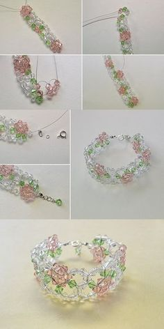 Fresh beaded flower bracelet best choice for summer make one for yourself lc pandahall com will release the tutorial soon Bracelet Crafts, Flower Bracelet, Jewelry Crafts, Seed Bead Jewelry, Bead Jewellery, Jewelry Box, Jewelry Necklaces, Beaded Bracelet Patterns, Beaded Bracelets