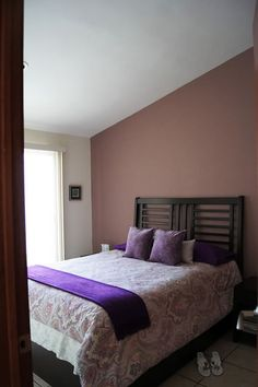 Purple paisley bedroom