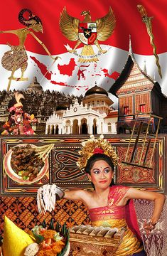 Mythology of Indonesia Indonesian Language, Indonesian Art, Indonesian Cuisine, Independent Day, Independence Day Greeting Cards, Red And White Flag, Hindu Culture, Dutch East Indies, Balinese