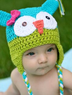 Crochet Owl Hat Pattern- 16 Easy Crochet Hats For Kid's | DIY to Make
