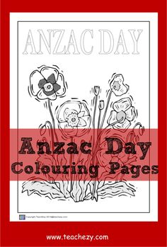 Poppy Coloring Page, Colouring Pages, Art For Kids, Crafts For Kids, Arts And Crafts, Australia Crafts, Poppy Drawing, Family Day Care, Anzac Day