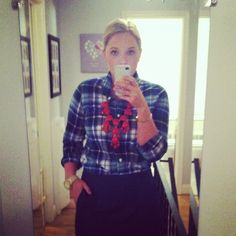 Plaid and bubble necklace for Fall