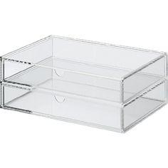 Acrylic Box - 2 Drawers - Wide