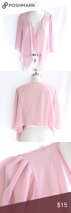 Rose Chiffon Bolero This beautiful lightweight bolero is perfect to throw on over a cute summer dress or over a camisole! Excellent condition! Mimi Chica Jackets & Coats