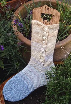 Ravelry: The Nanny pattern by Janine Le Cras free pattern this could be machine knit from the top down. Flat to the ankle, 10 row together with lapping top and he to toe.