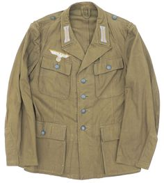 uniform jakke til det tyske afrika korps model Ww2 Uniforms, German Uniforms, Military Uniforms, Military Jacket, German Soldiers Ww2, Afrika Korps, World War Ii, Diorama, Wwii