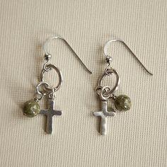 cross earrings, love love love!