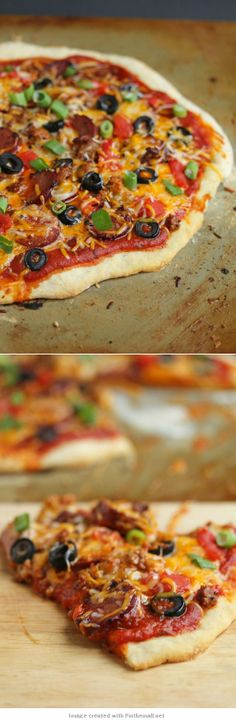 Mexican Pizza- would be good cold. Like a seven layer dip on a pizza crust.