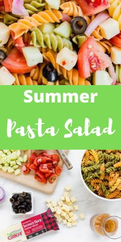 With flavors of sharp cheddar, tangy Italian dressing, and crunchy juicy summer vegetables,this pasta salad recipe is perfect for summer BBQs! #aclassictwist #summerpastasalad #pastasalad #summerrecipes #saladrecipes Fun Easy Recipes, Summer Recipes, Dinner Recipes, Salad Dressing Recipes, Pasta Salad Recipes, Summer Corn Salad, Grilled Chicken Salad, Italian Dressing, Kitchen Recipes