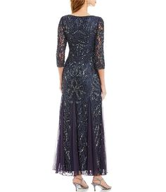 e094c406b54 Color Slate - Image 2 - Pisarro Nights Beaded Lace Gown Beaded Lace