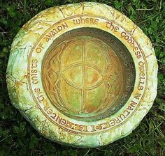 """Mists of Avalon Gazing Bowl-  """"Enter the Mists of Avalon where the Goddess dwells in nature.""""     Jon and Ann Maglinte from Willits, Ca"""