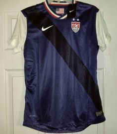 efcc56b1870 NEW Nike Dri-Fit USA National Team Soccer Jersey Womens Medium M 520543 410  Navy