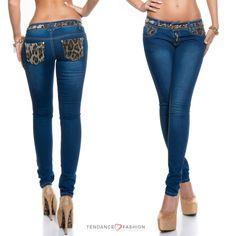 Jeans sexy tendance ALYCIA couleur bleu – Tendance Fashion boutique en ligne de vêtements, chaussures et accessoires de Mode au style sexy et fashion, toute la mode est sur www.tendancefashion.fr