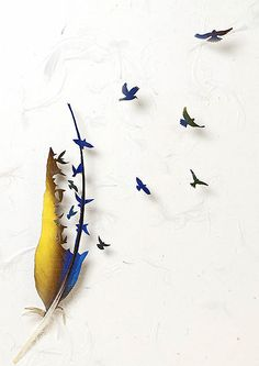 Feather Sculptures by Chris Maynard