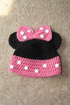 Mouse beanie. Girl. Crochet. Handmade. via Etsy