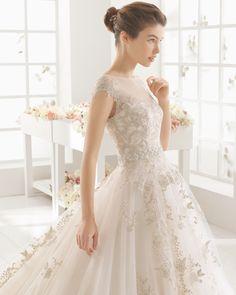 MONACO vestido de novia de Aire Barcelona 2016